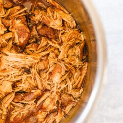 An Instant Pot full of pulled pork
