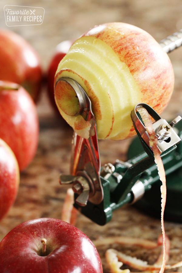 Apple being peel