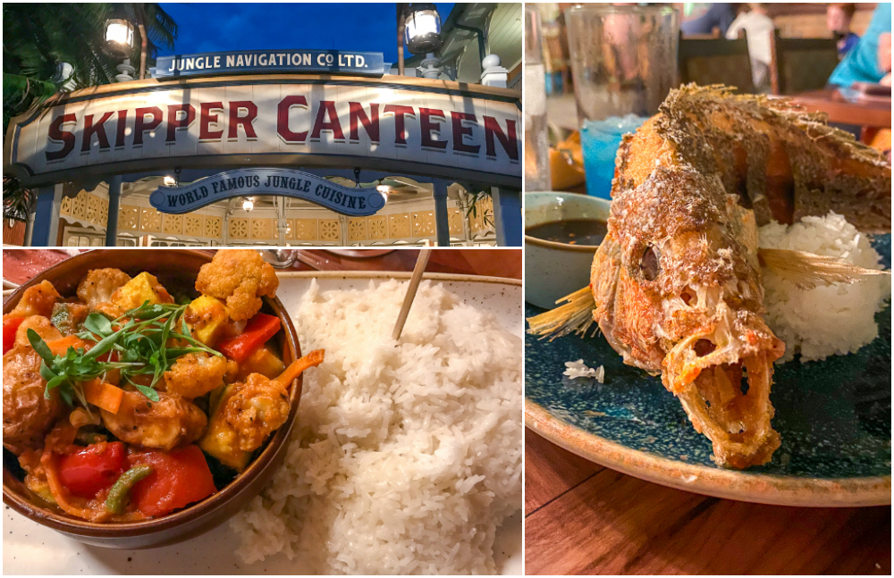 Jungle Navigation Co Skipper Canteen Menu Items and Decorations in Magic Kingdom