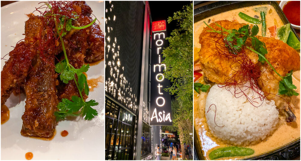 Morimoto Asia Menu Items and Decorations in Disney Springs