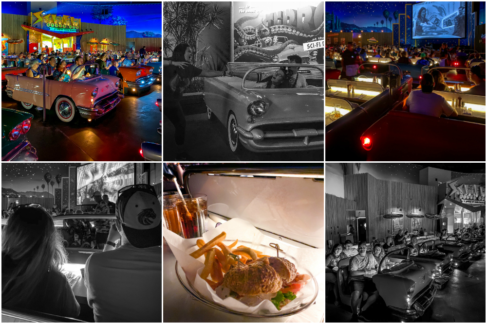 Sci Fi Drive In Theater Menu Items and Decorations in Disneys Hollywood Studios