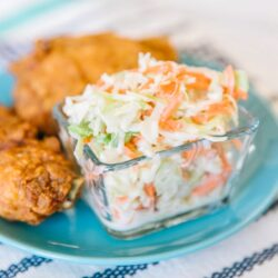 KFC Coleslaw recipe served with fried chicken