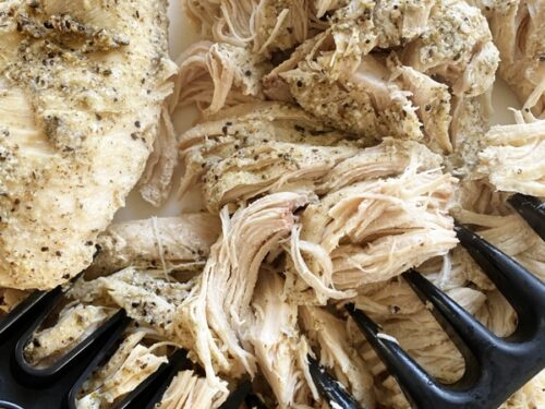 Shredded chicken with meat claws