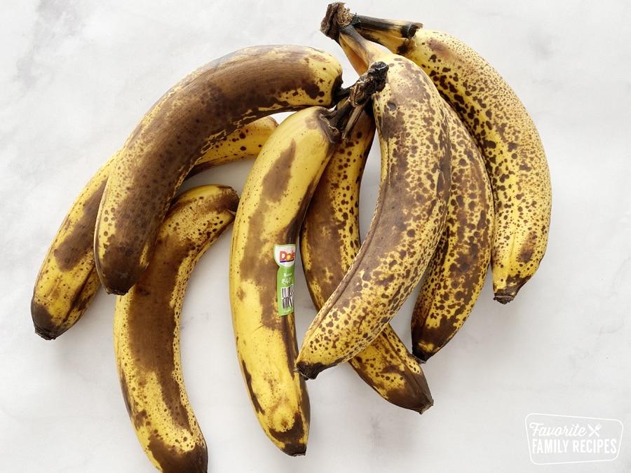 Ripe bananas for freezing