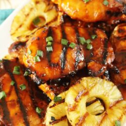 Huli Huli Chicken with grilled pineapple on the side
