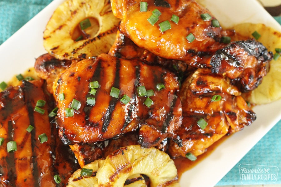 grilled huli huli chicken with pineapple