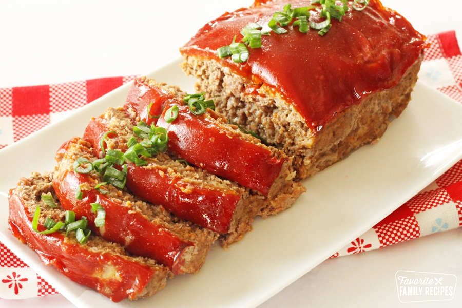 Meatloaf sliced part-way through