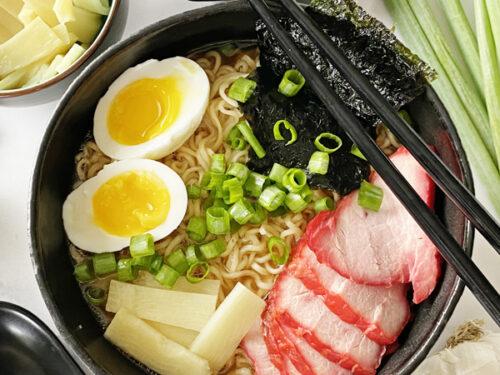 shoyu ramen in a bowl