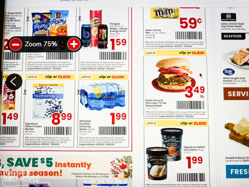 Digital coupons for Albertsons