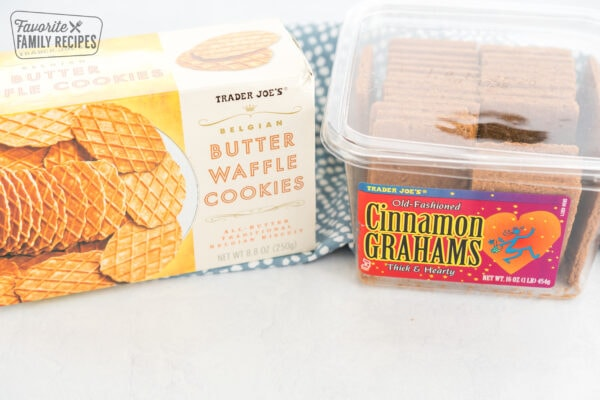 Butter waffle cookies and graham crackers from trader joes