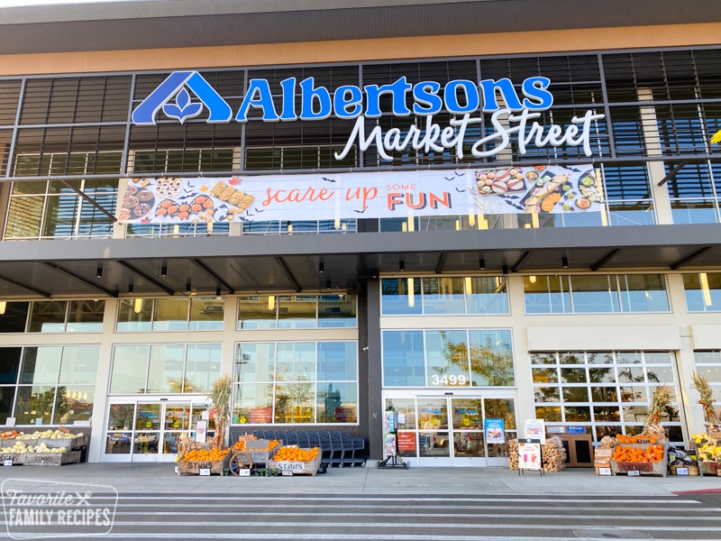 Albertsons Storefront with Fall signage