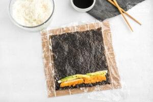 Sushi fillings on nori