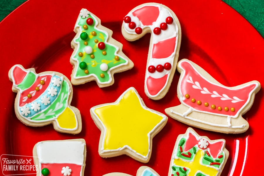 Christmas cookies on a plate