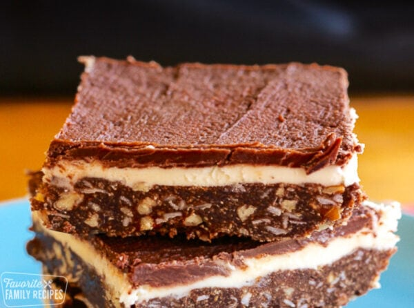 Stacked Nanaimo bars