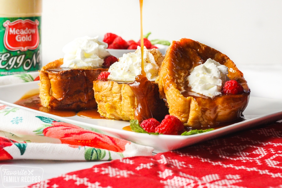 Gingerbread syrup over French toast