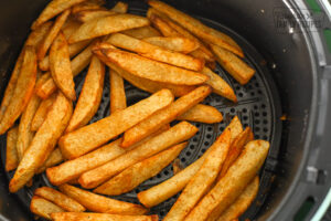 Cooked Fries in air fryer