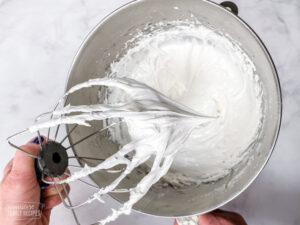 Royal icing in a mixing bowl