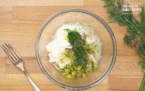 Tartar Sauce ingredients in a bowl.
