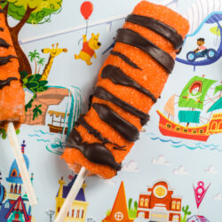 Closeup of Tigger tail on a placemat