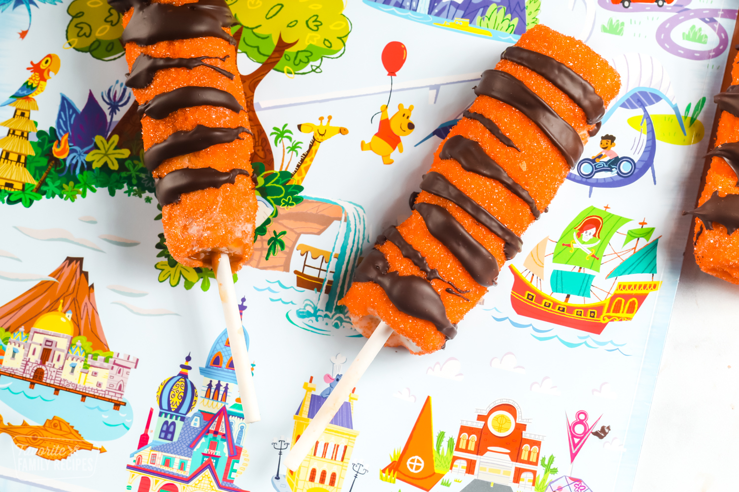 Tigger tails on a Disneyland placemat