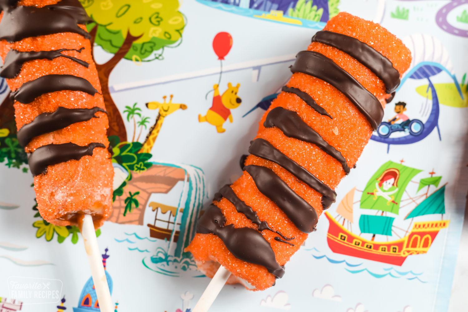 Candy Tigger tails on a Disney placemat