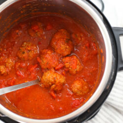 Meatballs in an Instant Pot in sauce