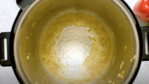 Flour and butter in an Instant Pot to make a roux for gumbo