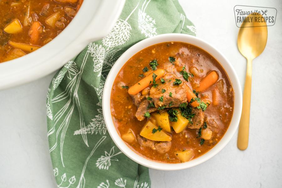 A bowl of Crock Pot Beef Stew