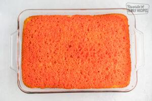 Raspberry Lemon Jello Poke Cake