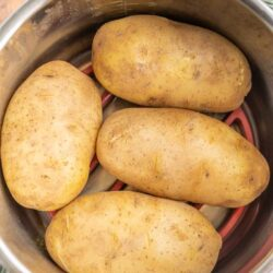 Four baked potatoes in an instant pot